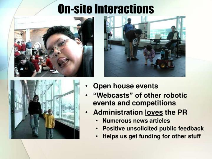On-site Interactions