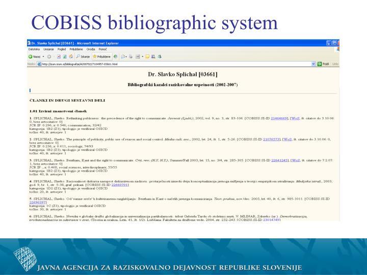 COBISS bibliographic system