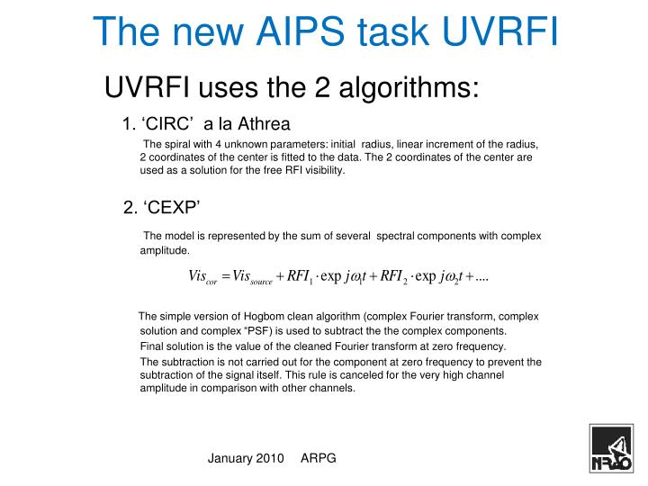 The new AIPS task UVRFI