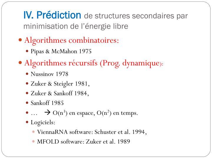 IV. Prédiction