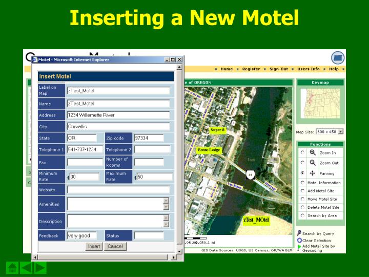 Inserting a New Motel