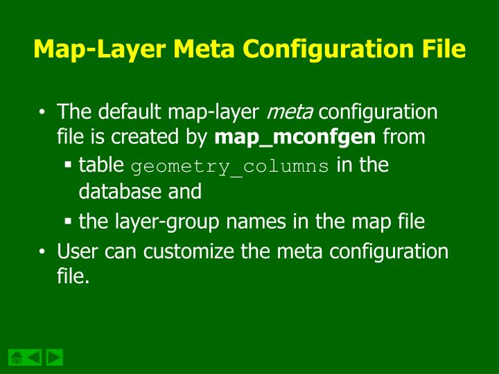 Map-Layer Meta Configuration File