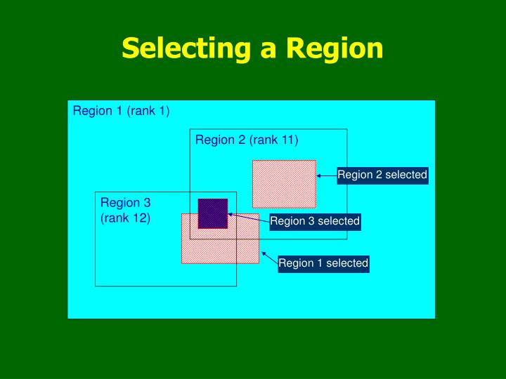 Selecting a Region