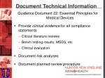 document technical information