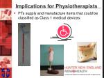 implications for physiotherapists