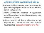 aktivitas investasi dan pendanaan non kas