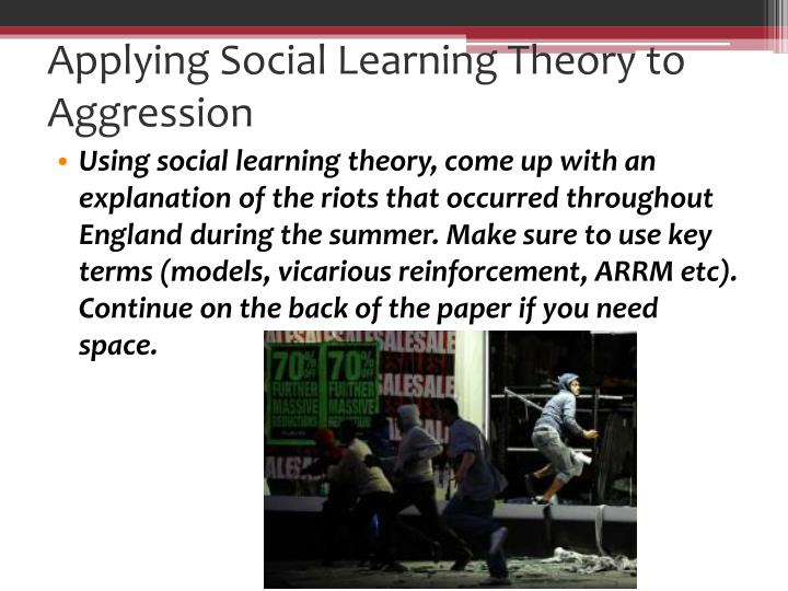 applying learning theory to life Learning theory is rooted in the work of ivan pavlov, the famous scientist who discovered and documented the principles governing how animals (humans included) learn cognitive behaviorism is a newer approach that applies learning theory to mental events like thoughts and feelings.
