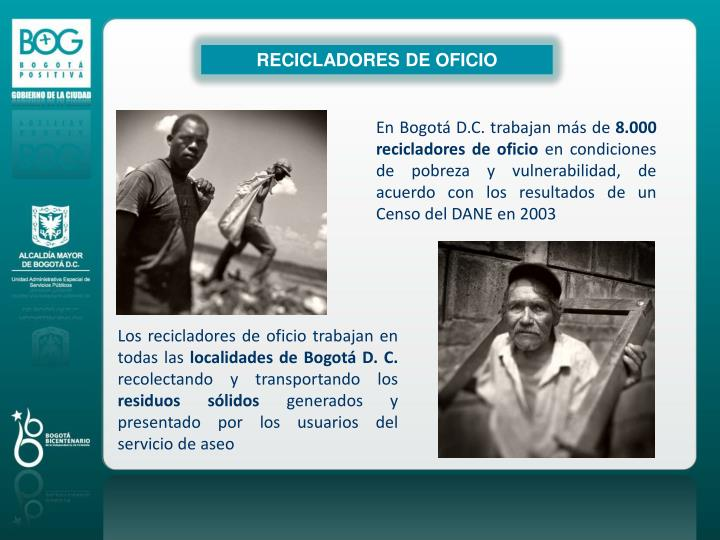 RECICLADORES DE OFICIO