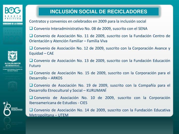 INCLUSIÓN SOCIAL DE RECICLADORES
