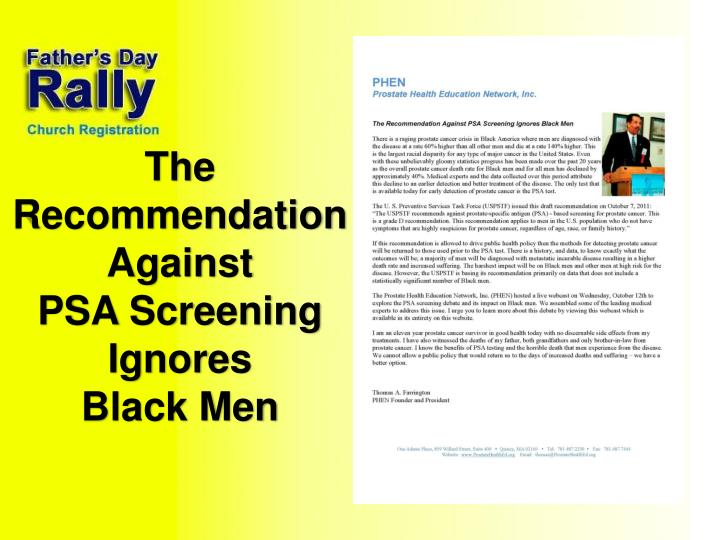 The Recommendation Against