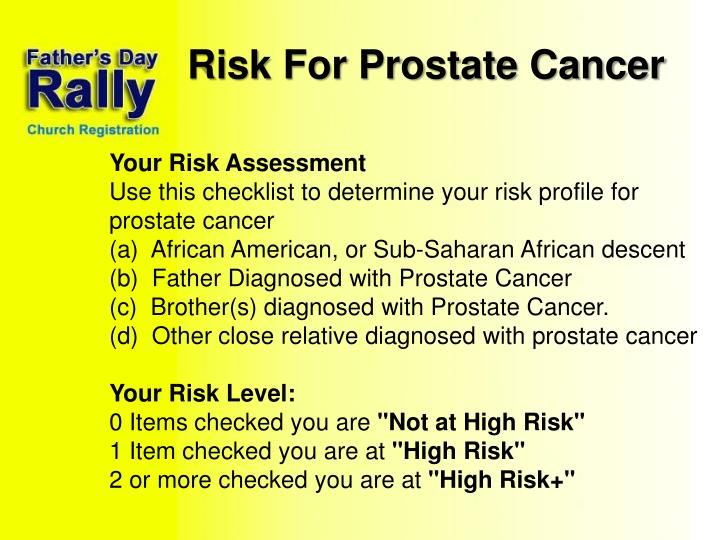 Risk For Prostate Cancer