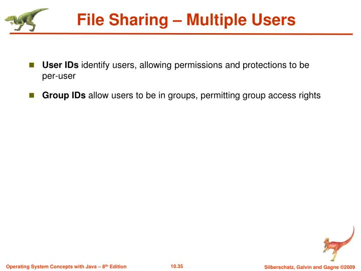 File Sharing – Multiple Users