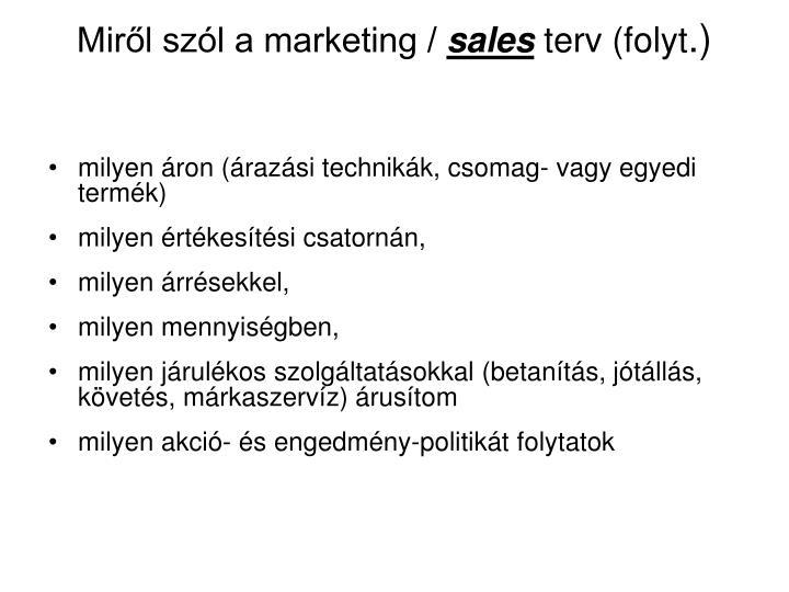 Miről szól a marketing /