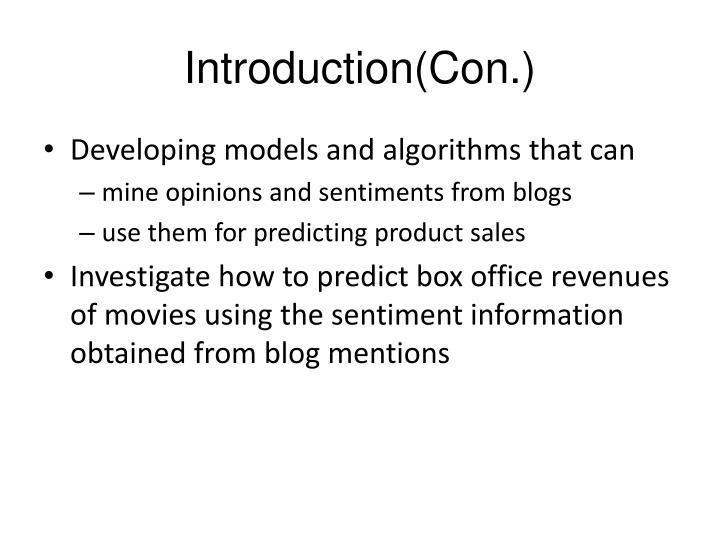 Introduction con