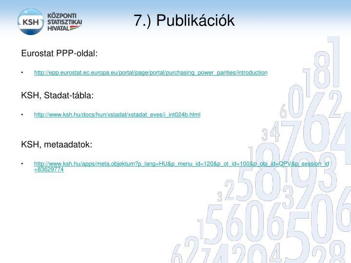 7.) Publikációk