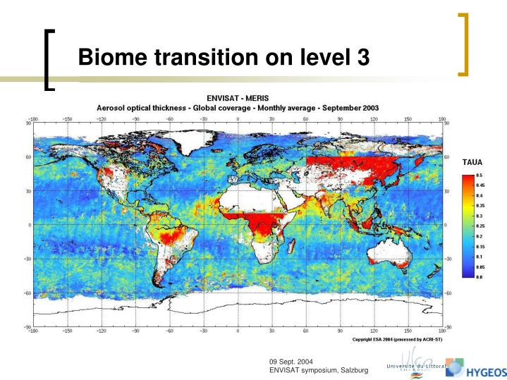 Biome transition on level 3