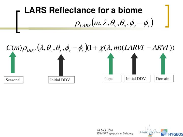 LARS Reflectance for a biome