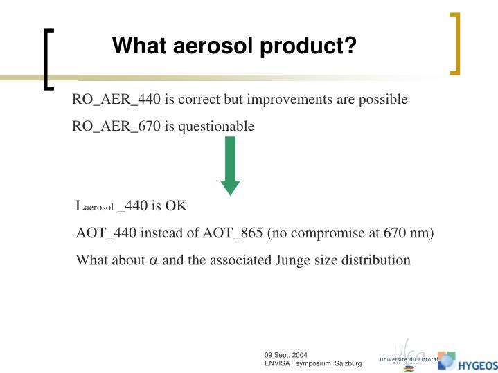 What aerosol product?