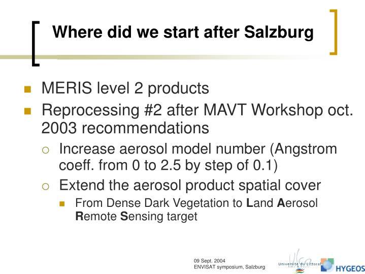Where did we start after salzburg