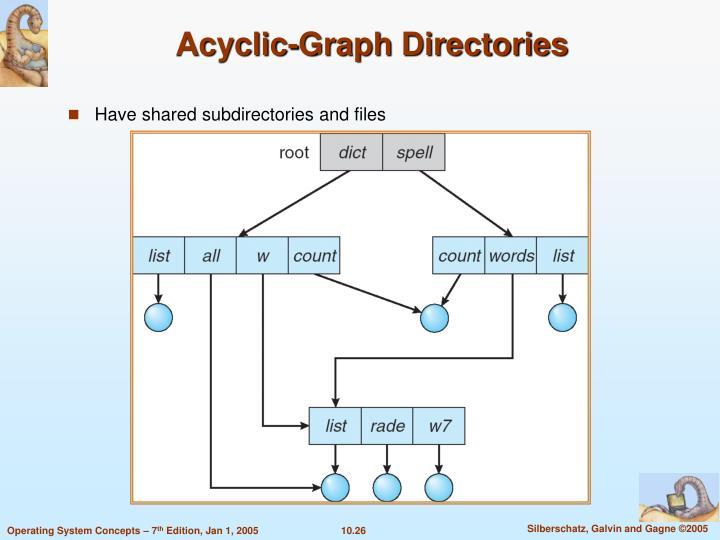 Acyclic-Graph Directories