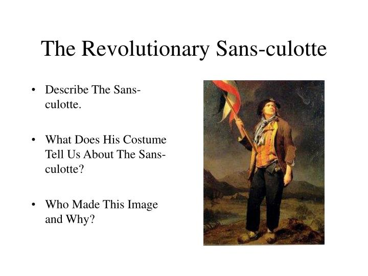 an analysis of the book the sans culotte