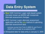 data entry system
