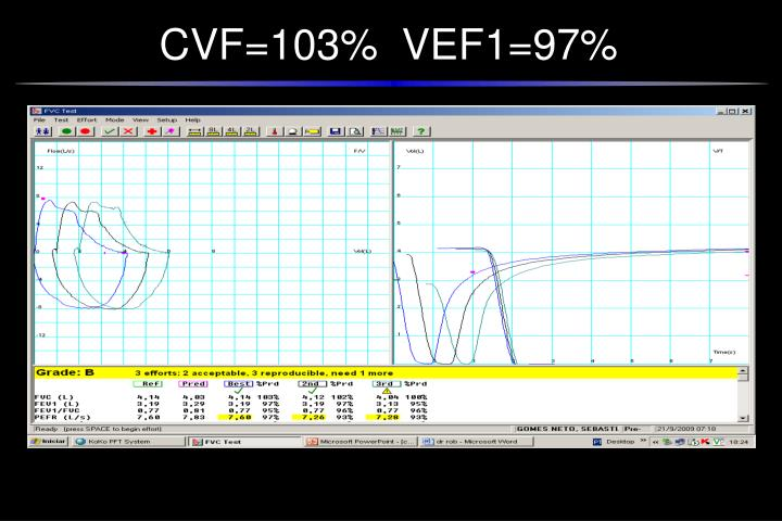 CVF=103%  VEF1=97%