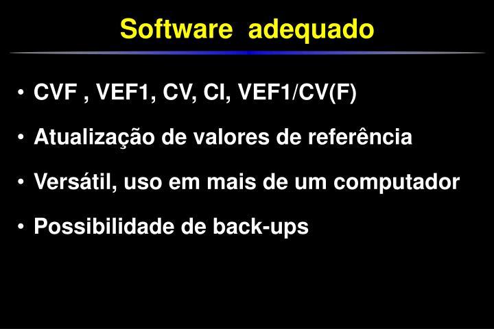Software  adequado