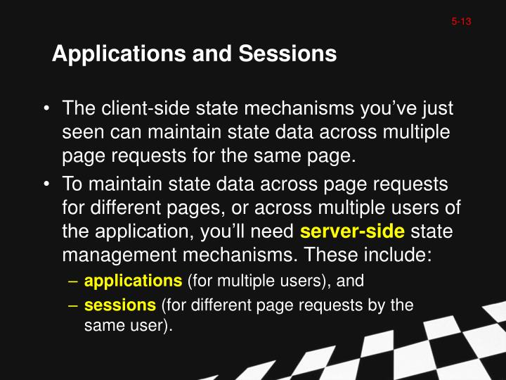 Applications and Sessions