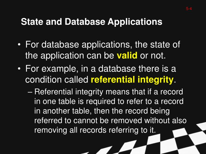 State and Database Applications
