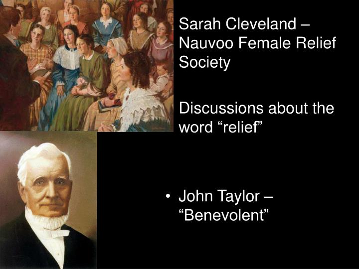 Sarah Cleveland – Nauvoo Female Relief Society