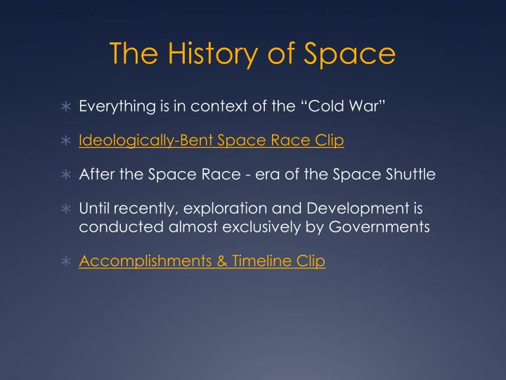 an analysis of the space exploration and the space race during the cold war era Space race and cold war essay 1209 words - 5 pages work of bravery, heroism, and purpose to do what one the cold war pushed the united states and the soviet union into a space race in which both methods: a) did research on the internet on space exploration and during the cold warb.