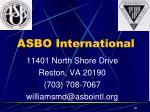 11401 north shore drive reston va 20190 703 708 7067 williamsmd@asbointl org