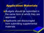 application materials1