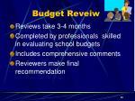 budget reveiw