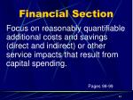 financial section10