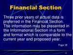 financial section7