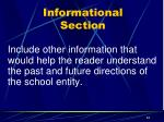informational section14