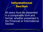 informational section5
