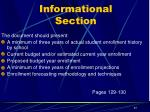 informational section9