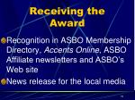 receiving the award2
