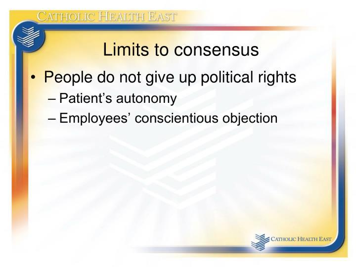 Limits to consensus