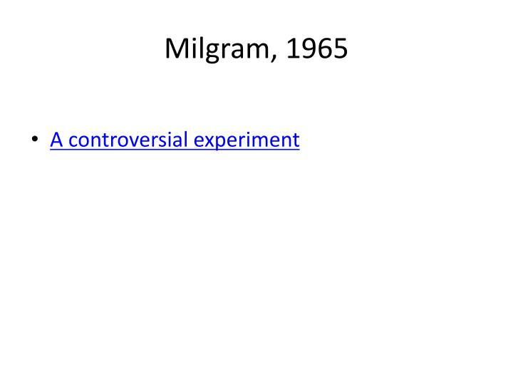 Milgram, 1965