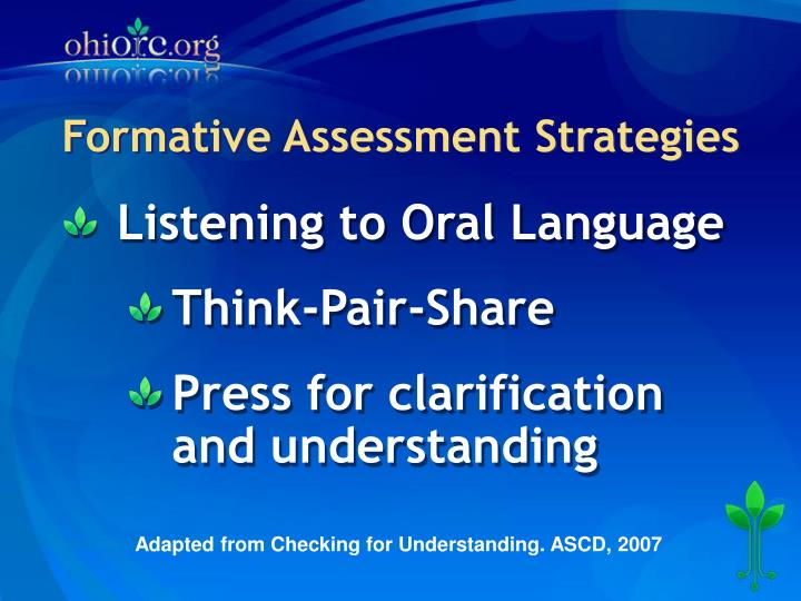 Formative assessment strategies1