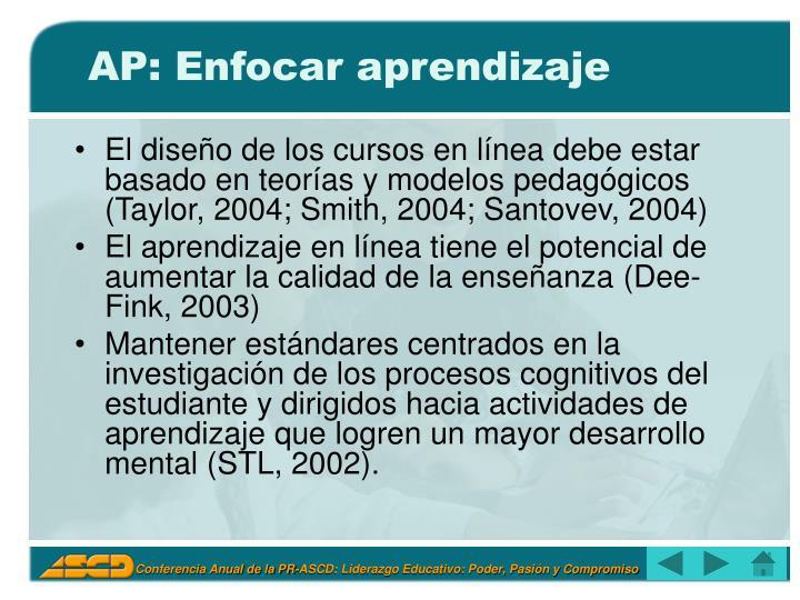 AP: Enfocar aprendizaje