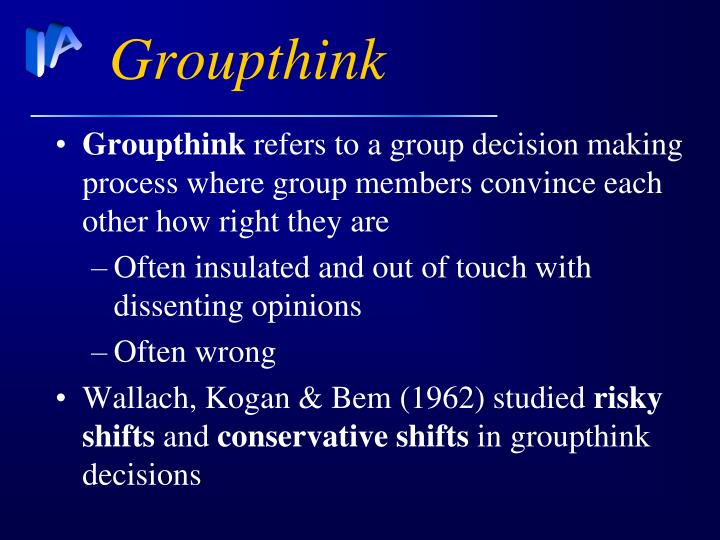 Ppt Groupthink And Conformity Powerpoint Presentation Id3953989