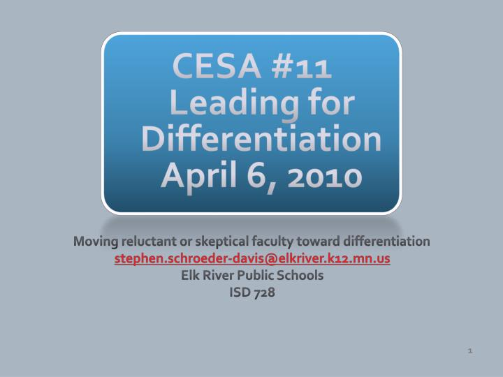 cesa 11 leading for differentiation april 6 2010 n.