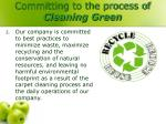 committing to the process of cleaning green1