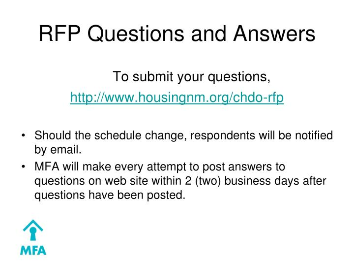 RFP Questions and Answers