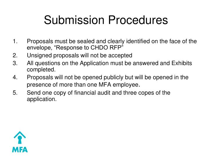 Submission Procedures